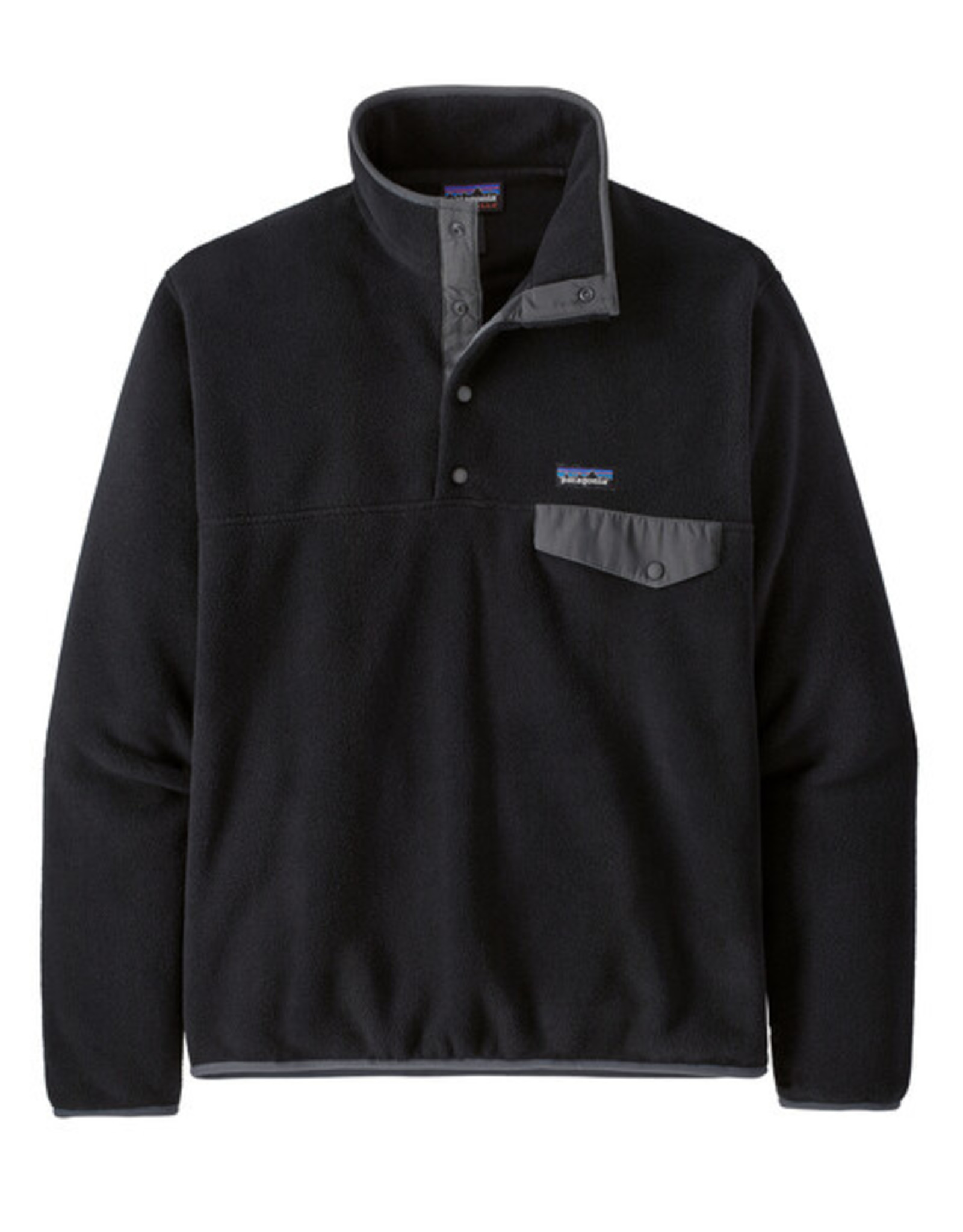 Patagonia - M's LW Synch Snap-T -  Black / Forge Grey