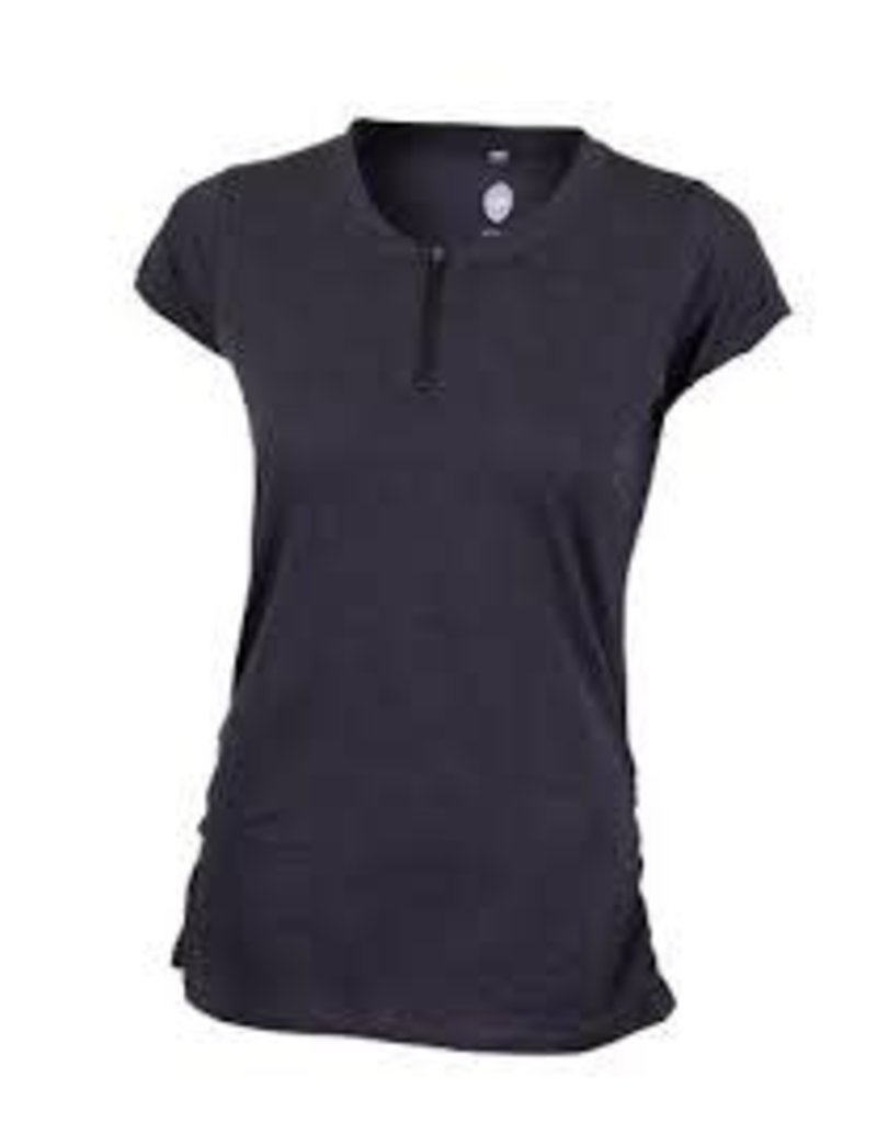 CLUB RIDE Deer Abby Women's Pullover Short Sleeve Top Black XS