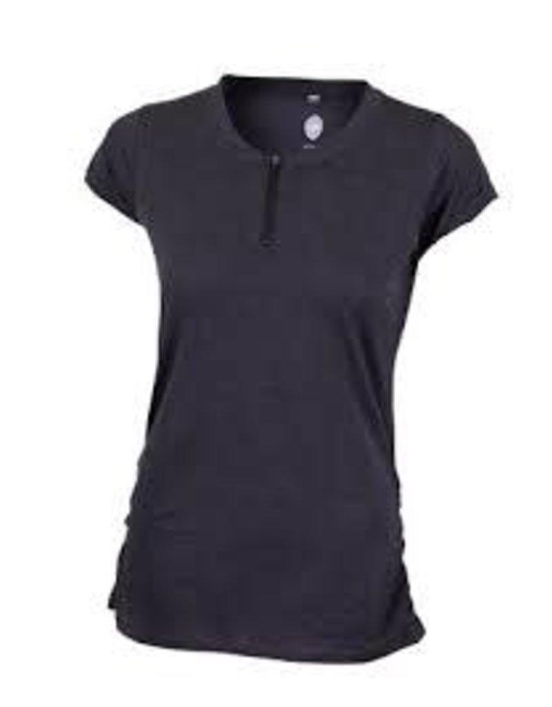 CLUB RIDE Deer Abby Women's Pullover Short Sleeve Top Black M
