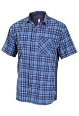 CLUB RIDE Club Ride Detour Men's Short Sleeve Snap Down Top Steel Blue XXL