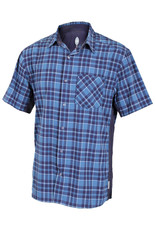 CLUB RIDE Detour Men's Short Sleeve Snap Down Top Steel Blue XXL