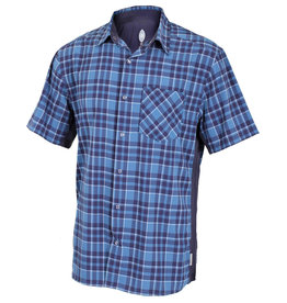 CLUB RIDE Club Ride Detour Men's Short Sleeve Snap Down Top Steel Blue XL