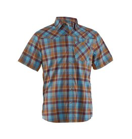 CLUB RIDE New West Men's Short Sleeve Snap Down- Desert- L