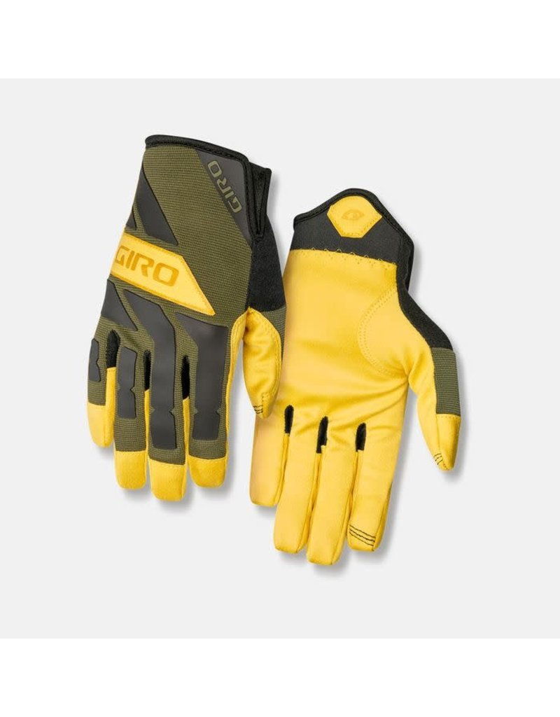 Giro Cycling Trail Builder Mountain Gloves - Olive/Buckskin (Adult Size L)