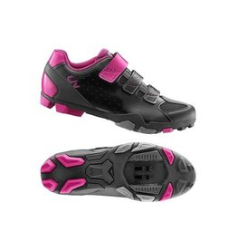 LIV LIV Fera Off-Road Shoe Nylon Sole 38 Black/Fuchsia