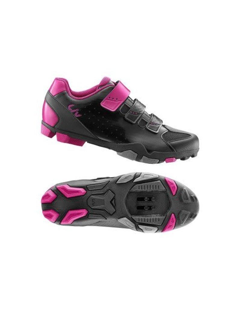 LIV LIV Fera Off-Road Shoe Nylon Sole 40 Black/Fuchsia