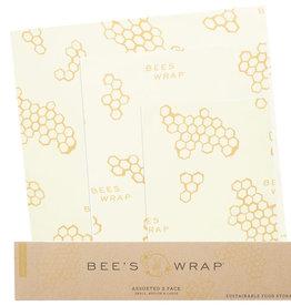 Paquet de 3 emballages à la cire d'abeille assortis
