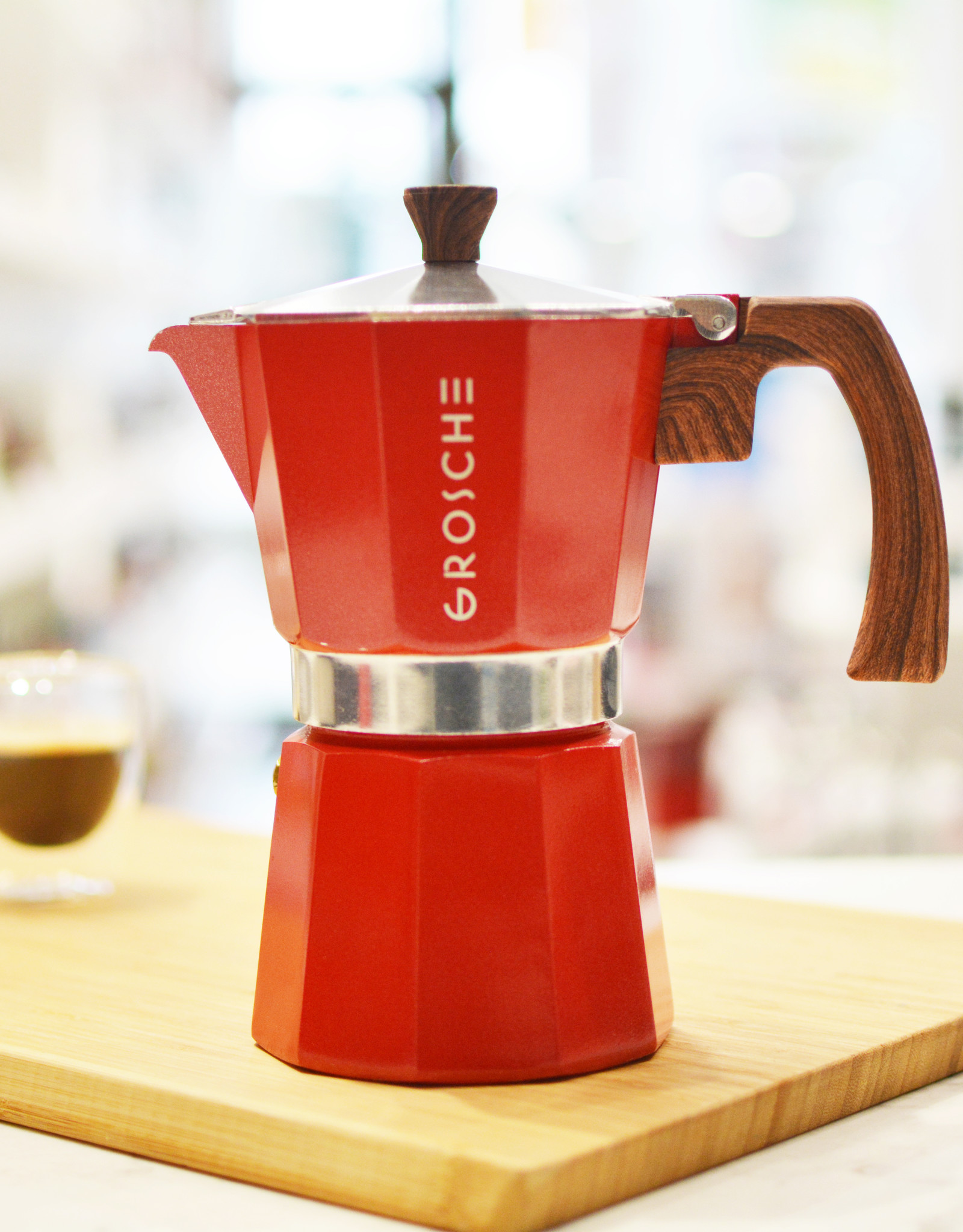Grosche Cafetière espresso 'Milano' rouge