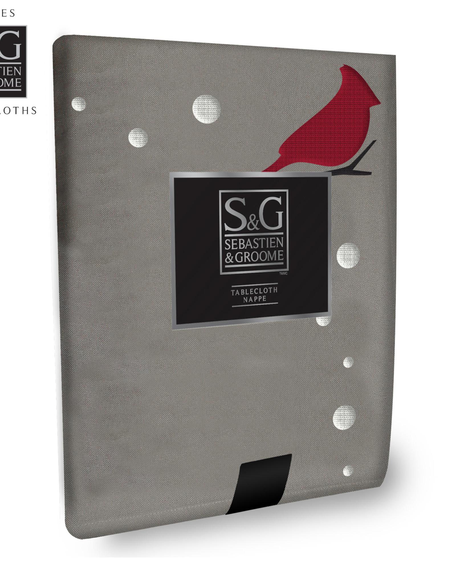 S&G Nappe S&G 'Cardinal brodé'