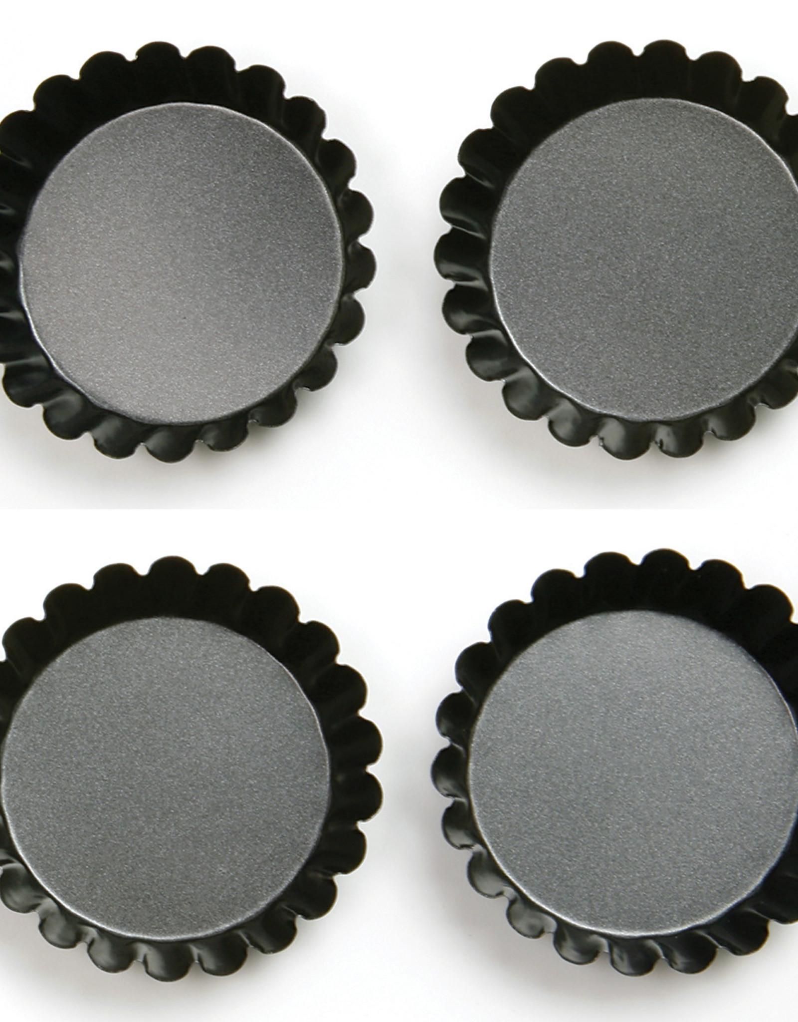 Norpro Ensemble de 4 moules à tartelettes antiadhésifs