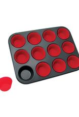 La Pâtisserie Moule à muffins a/moules en silicone (12)