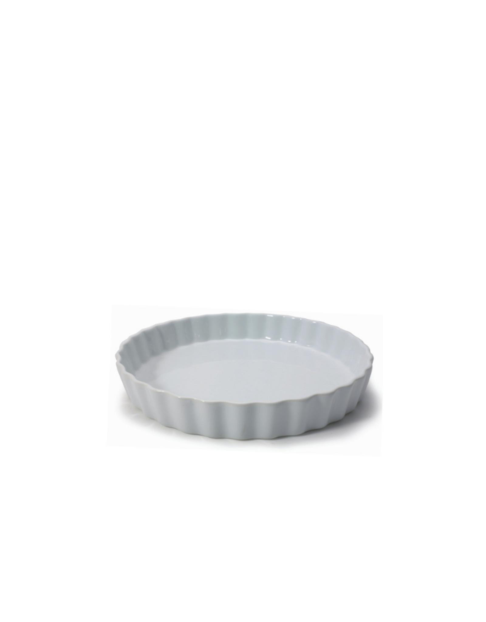 Danesco Moule à quiche en porcelaine blanche
