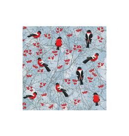 Serviettes (20) en papier oiseaux Noël