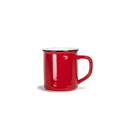 Tasse à café look émaillé - rouge