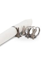 Abbott Ens. 4 anneaux de serviette Tour Eiffel