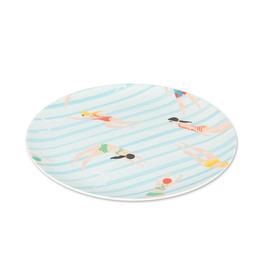 Abbott Ens. 4 assiettes en bambou 20cm - nageurs