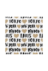 Serviettes en papier - Paris, London, Tokyo