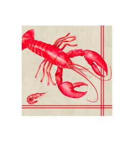 Serviettes en papier - Homard rouge
