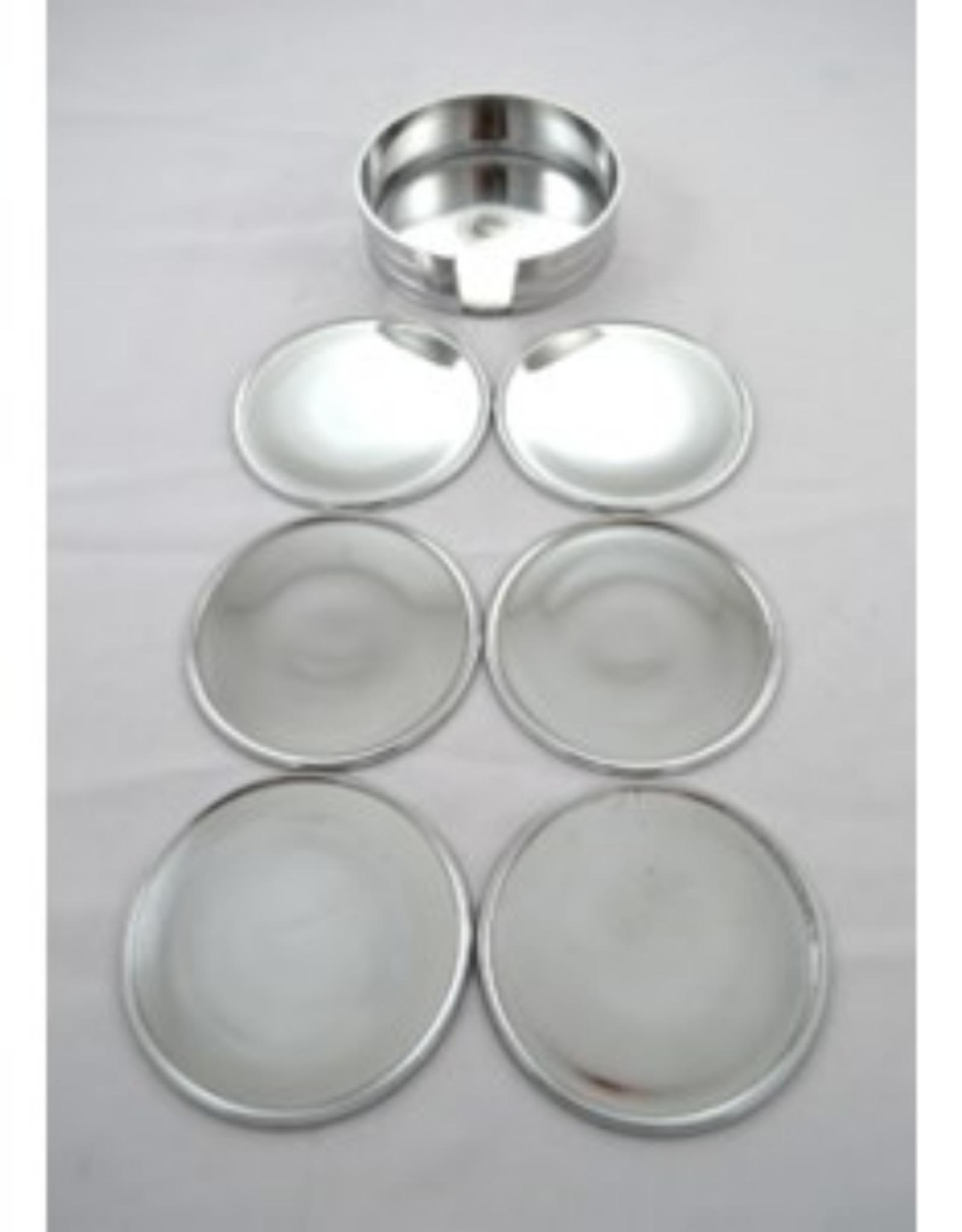 Ens. 6 sous-verres aluminium