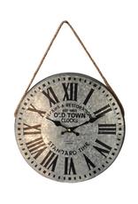 Horloge en acier galvanisé
