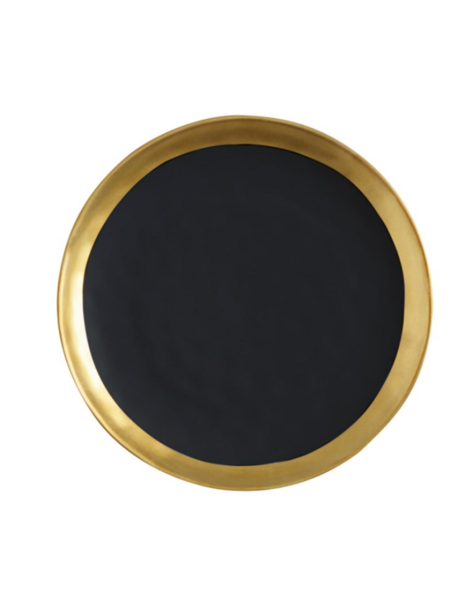 Maxwell Williams Assiette 'Swank' 16CM noir et or