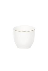 Gobelet en céramique blanc et or