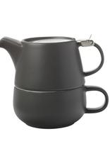 Maxwell Williams Ens. tasse et théière empilables - charcoal