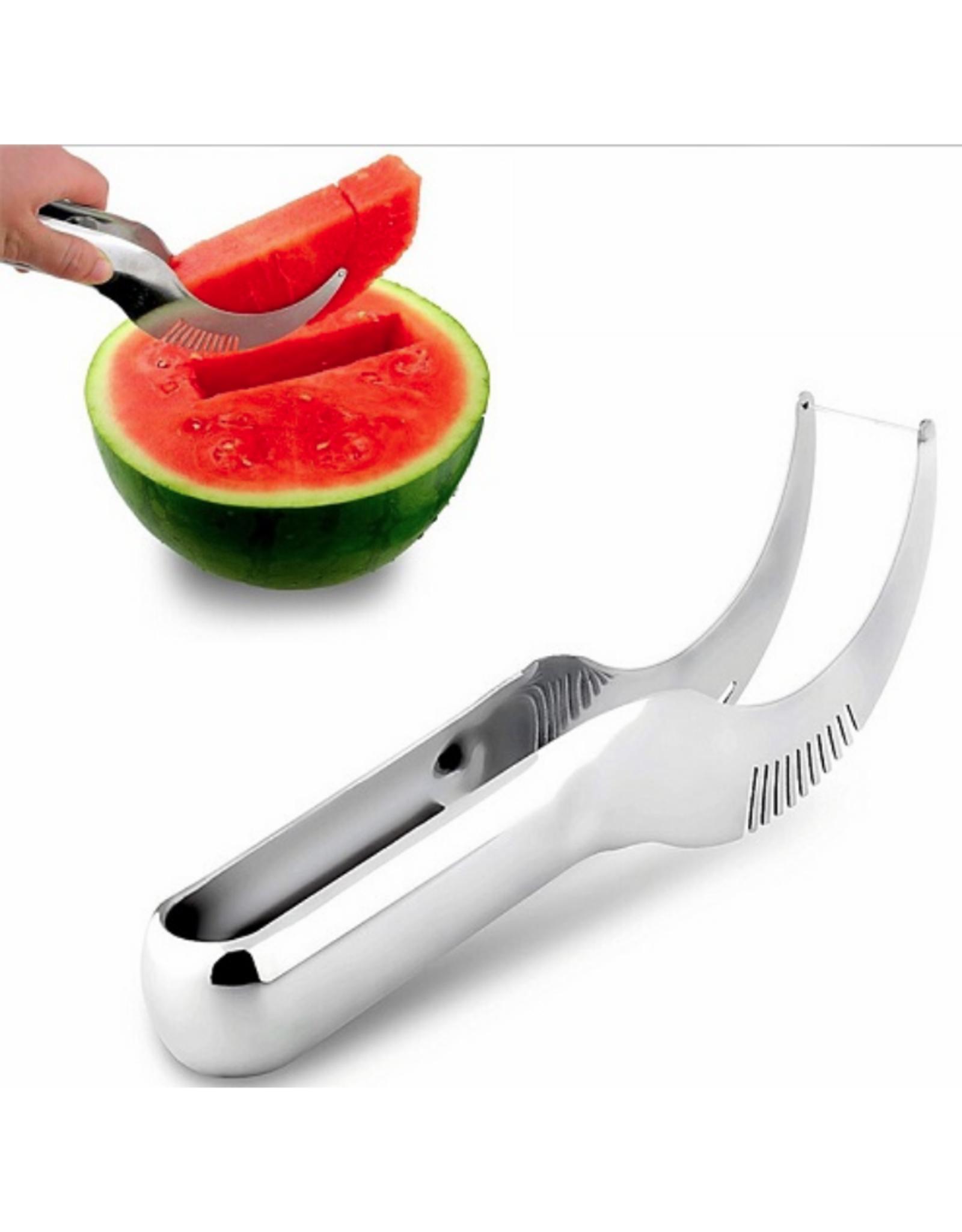 Couteau/pince à melon en inox