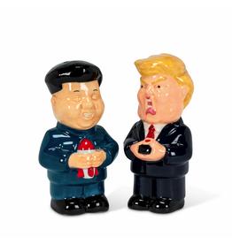 Ens. salière poivrière Trump & Kim