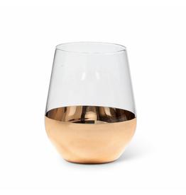 Abbott Verre à vin 16oz avec base or