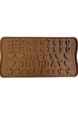 Moule en silicone à chocolats 'Happy Birthday'