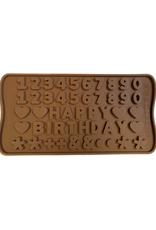 Moule en silicone à chocolats 'Happy Birthday'