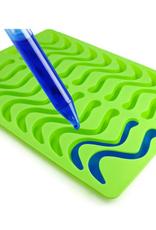 Moule à bonbons en silicone avec compte-gouttes - serpents