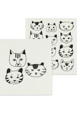 Abbott Ens. 2 linges en cellulose - Faces de chats
