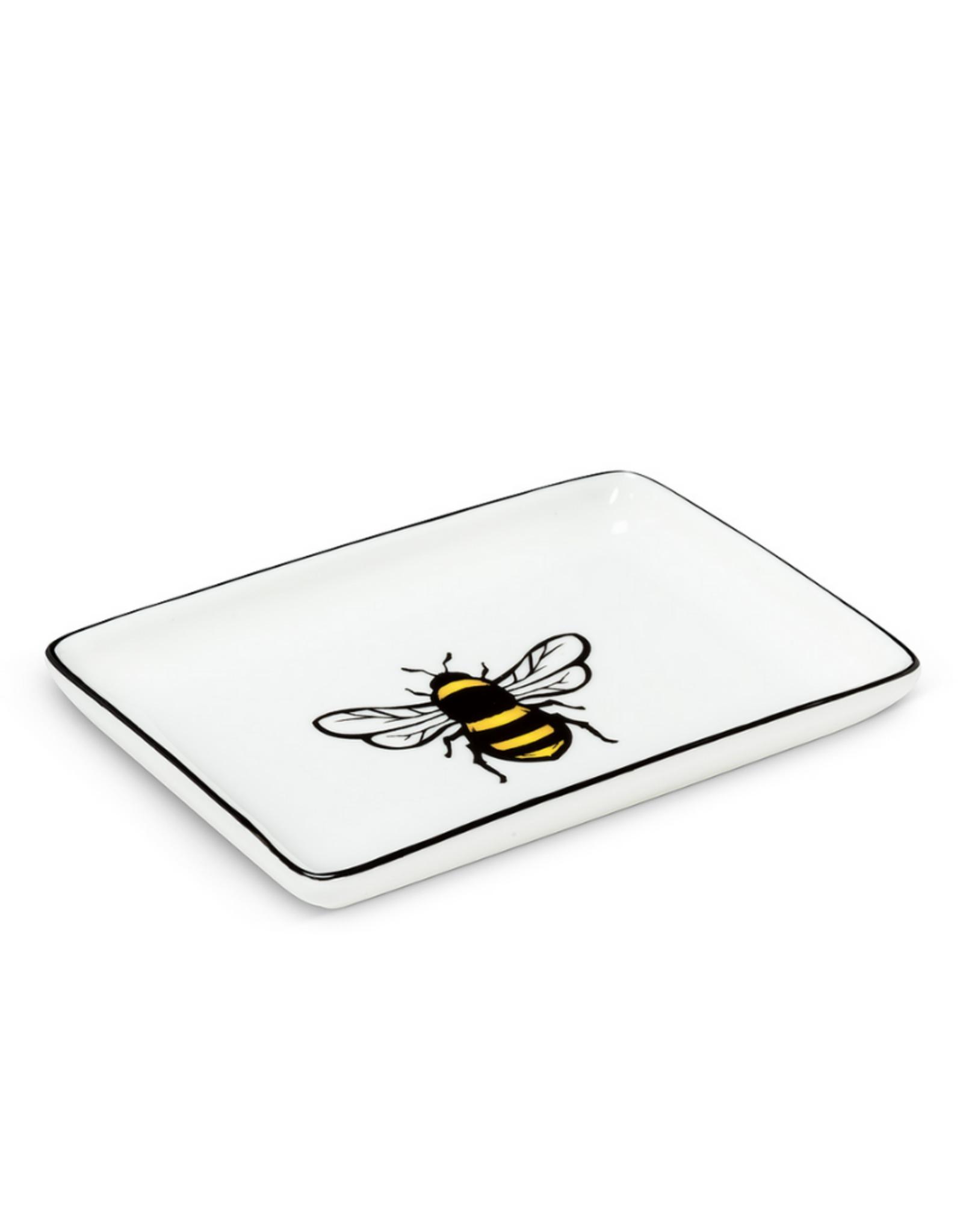 Abbott Petite assiette rectangle avec abeille