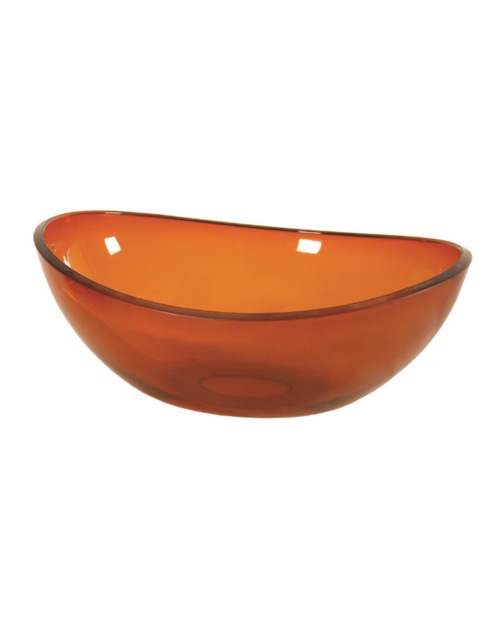 Bol ovale en acrylique orange