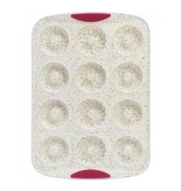 Trudeau Moule à 12 beignes Confetti Fuschia