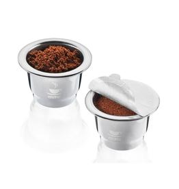 Ens. 2 capsules compatibles avec Nespresso en inox Conscio