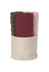 Now Designs Ens. de 3 lavettes - blush