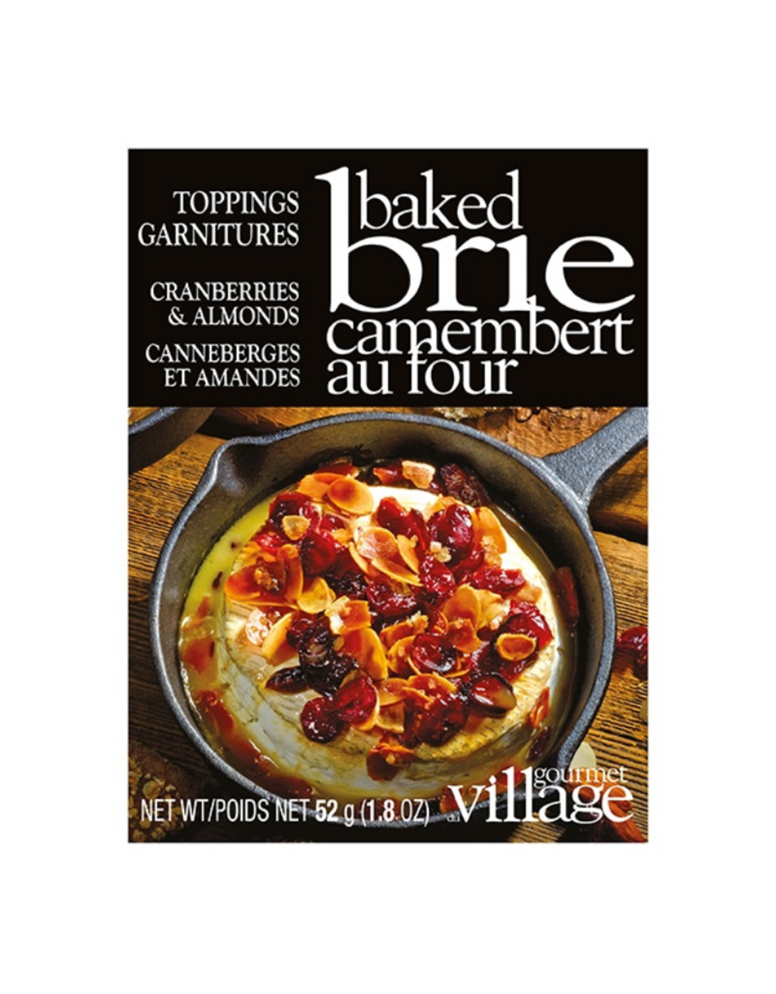 Gourmet du Village Garniture pour brie - canneberges et amandes
