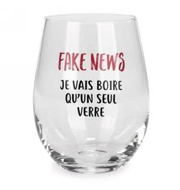 Verre à vin sans pied 'Fake News'