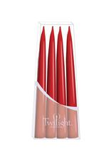 """Twilight Paquet de 4 chandelles Danoises coniques 10"""""""