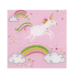 Serviettes en papier - licorne rose