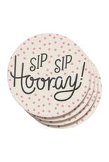 Now Designs Ens. 4 sous-verres 'Sip Sip Hooray'