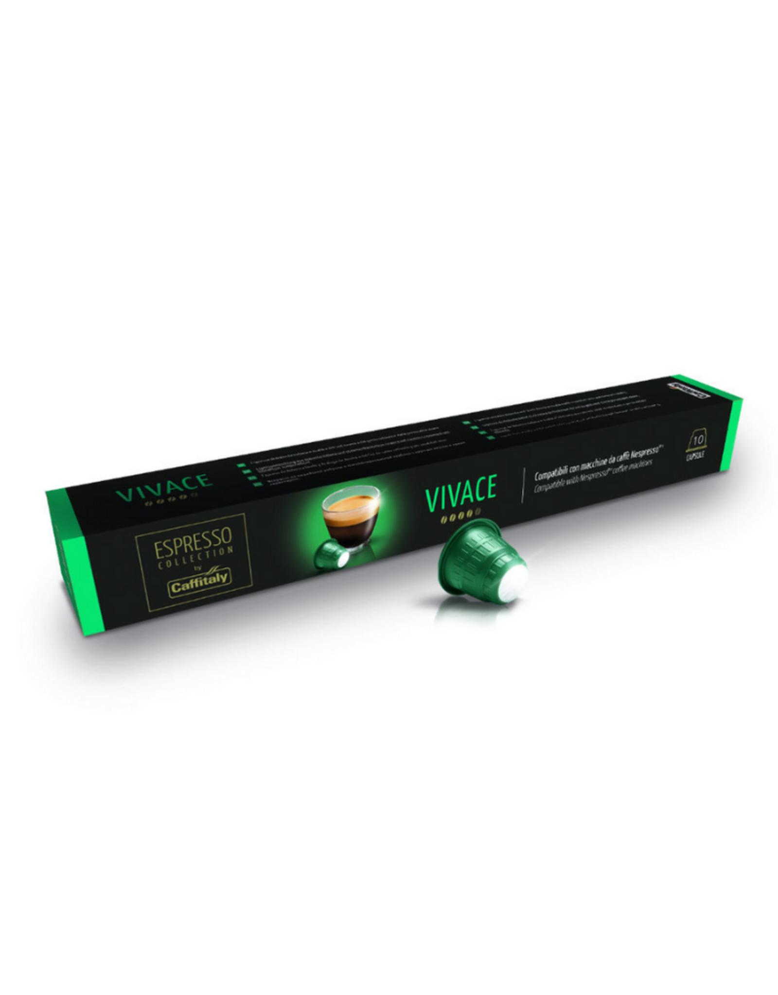 Caffitaly Capsules de café compatibles Nespresso Vivace