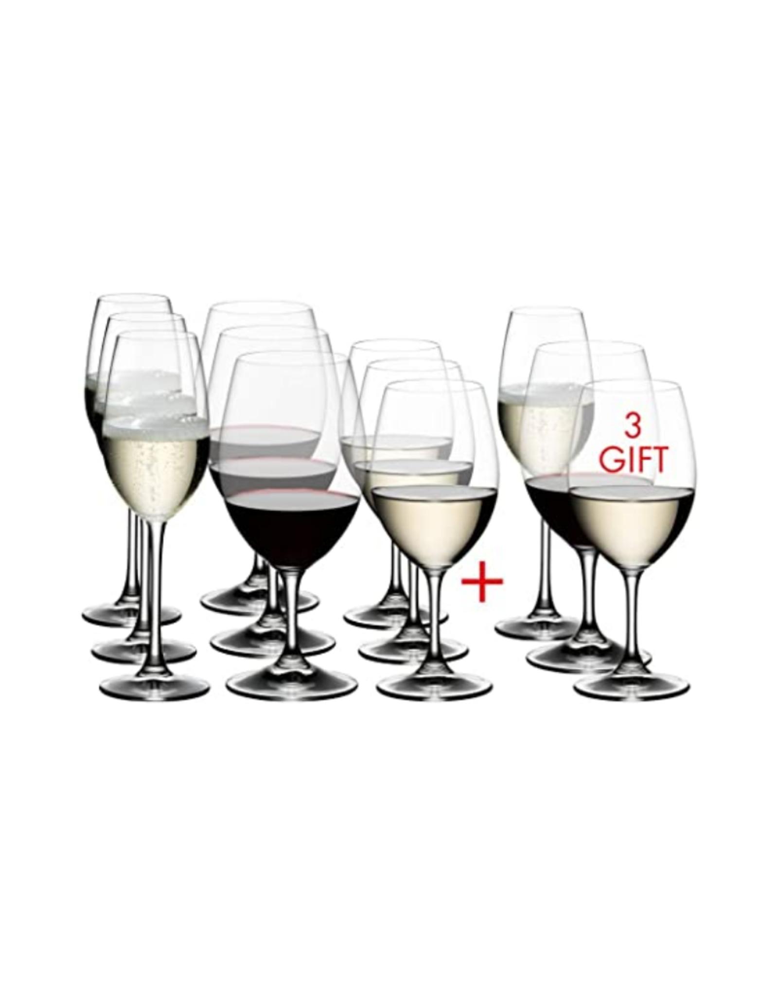 Riedel Ens. 12 coupes Riedel Ouverture (blanc, rouge et champagne)