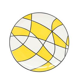 """Torre & Tagus Assiette Torre&Tagus 8.5"""" - jaune abstrait"""