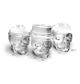 Moule à glaçons en silicone têtes de mort