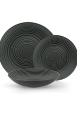 Ens. vaisselle 12 pièces - Spirale noire