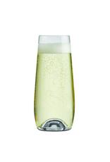 Ens. 6 flûtes à champagne sans pied 230ml